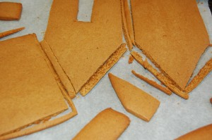 Recutting pieces after baking