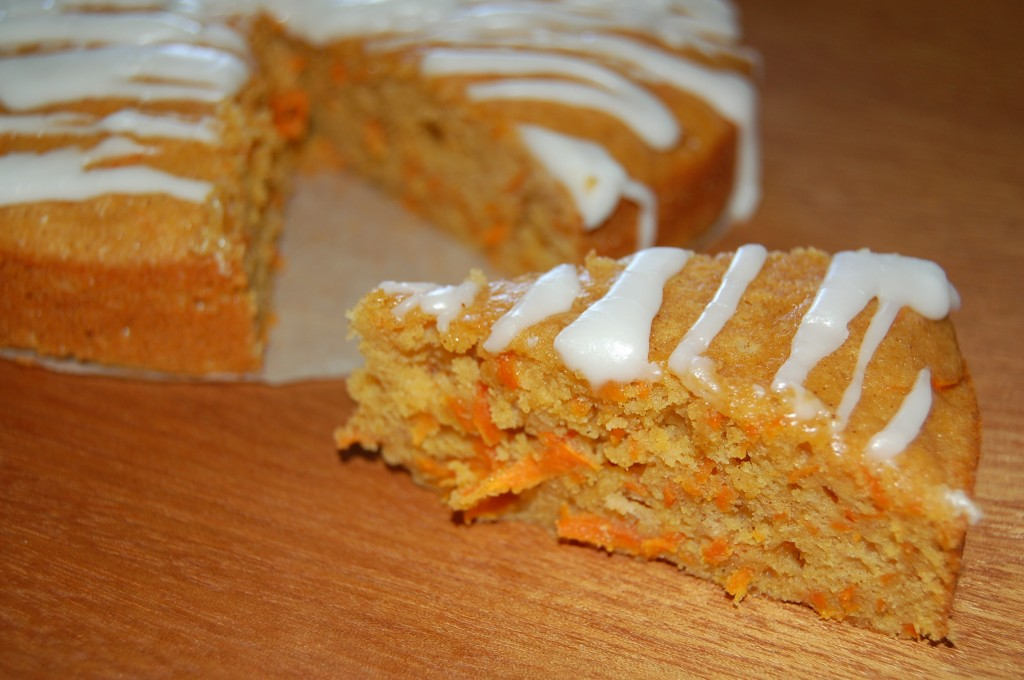 Served Carrot Cake