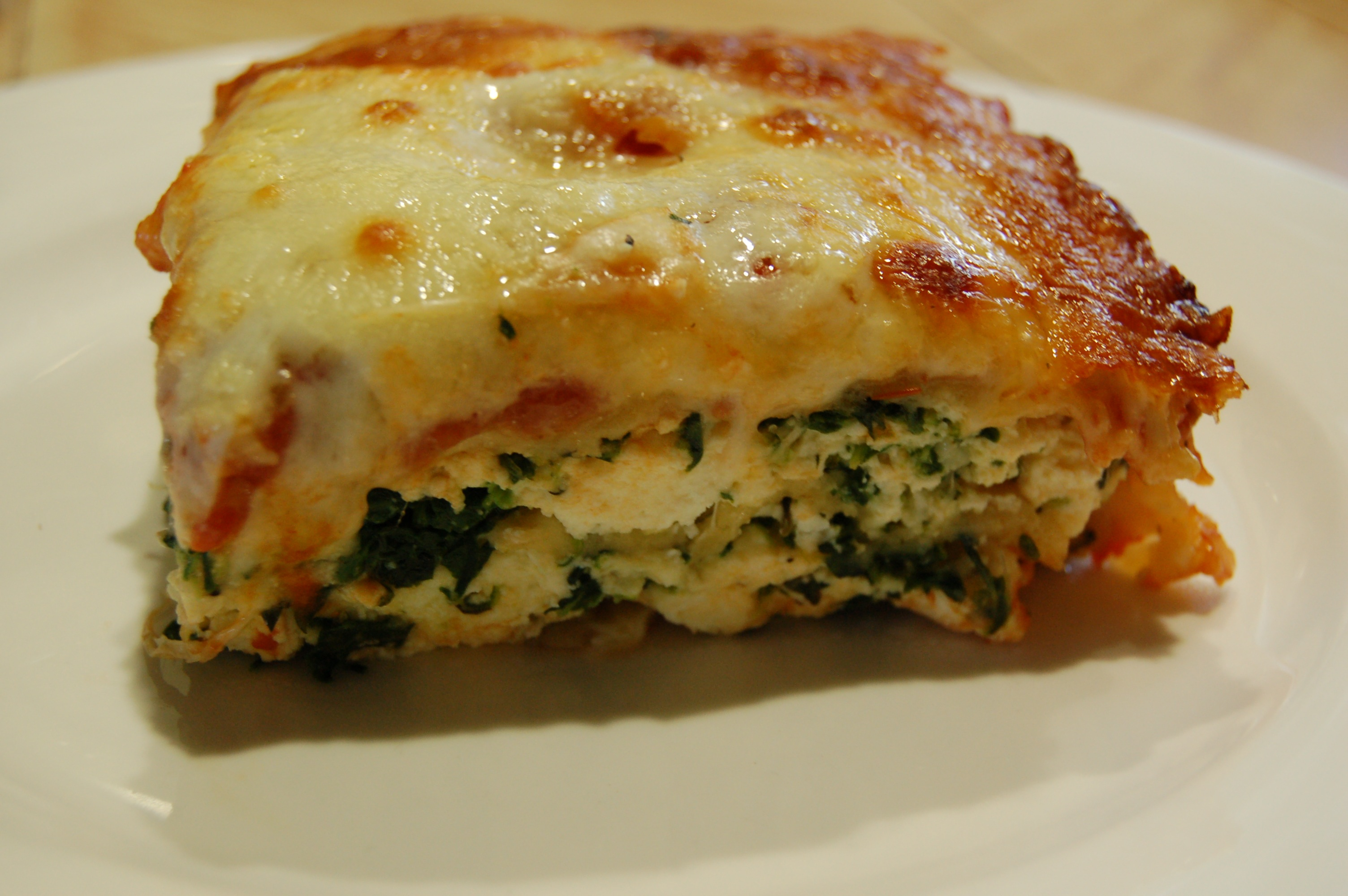 Homemade Gluten Free Lasagne With Spinach And Ricotta