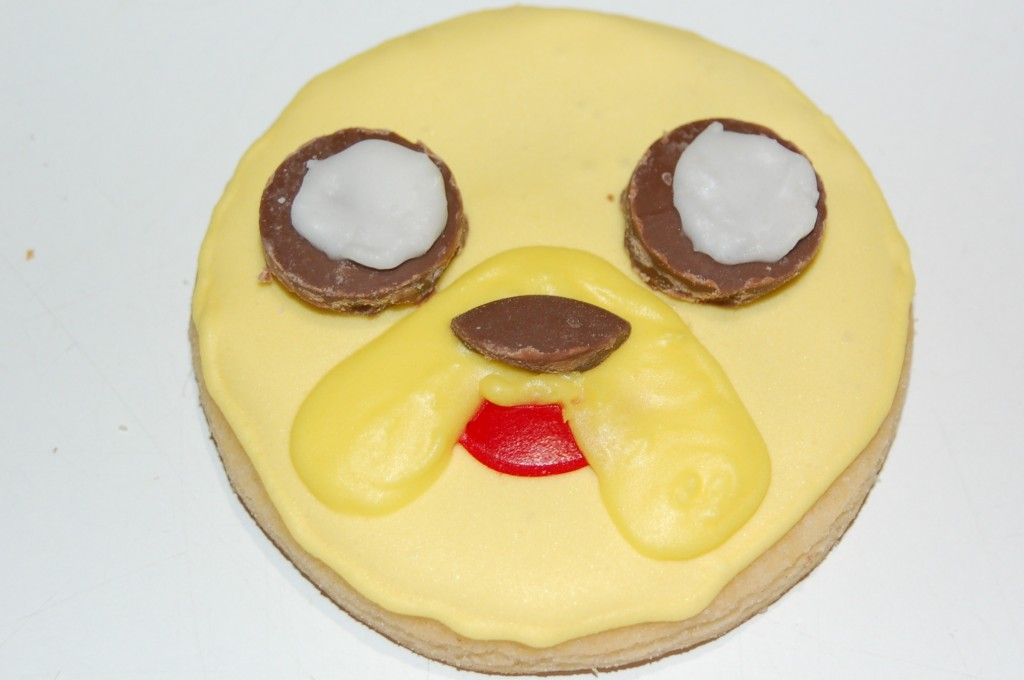Completed Jake The Dog Cookie
