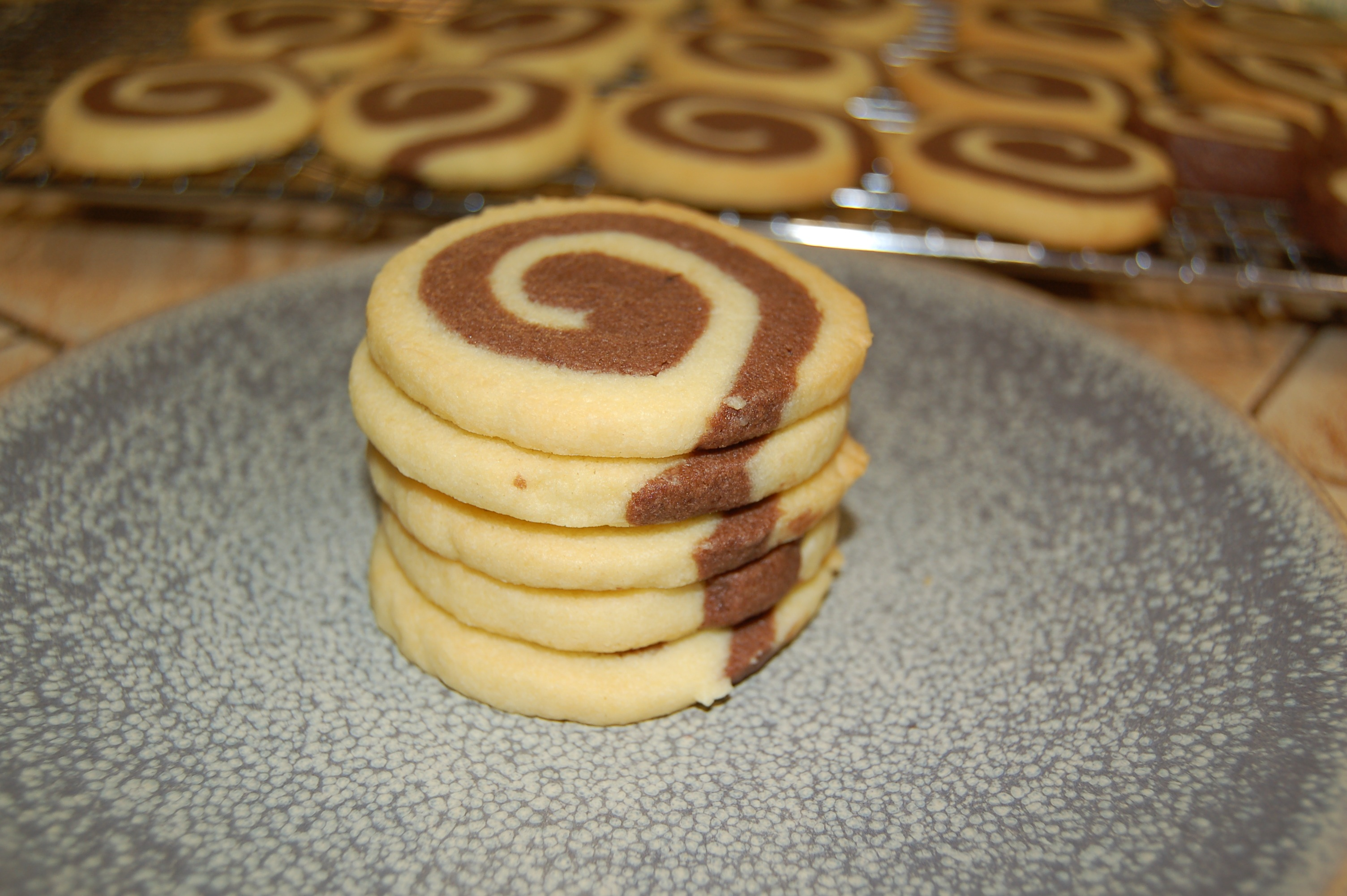 Vanilla Chocolate Swirl Cookies