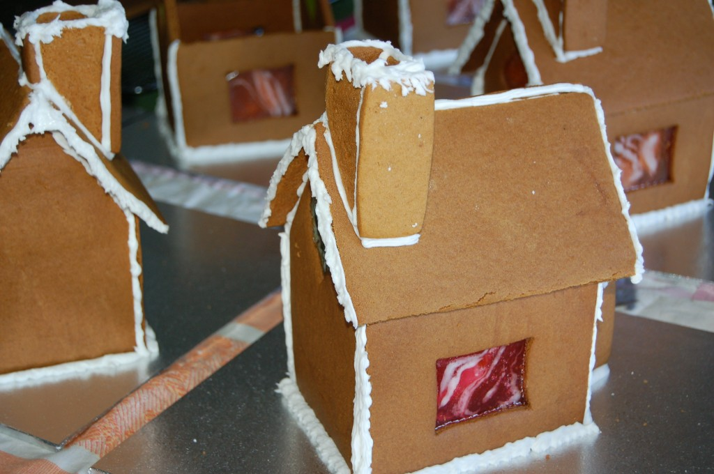 Gingerbread houses ready for decoration