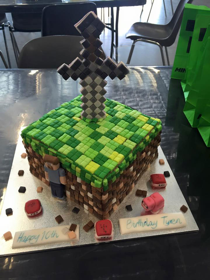 Minecraft Birthday Cake Sweet Saffron Spice
