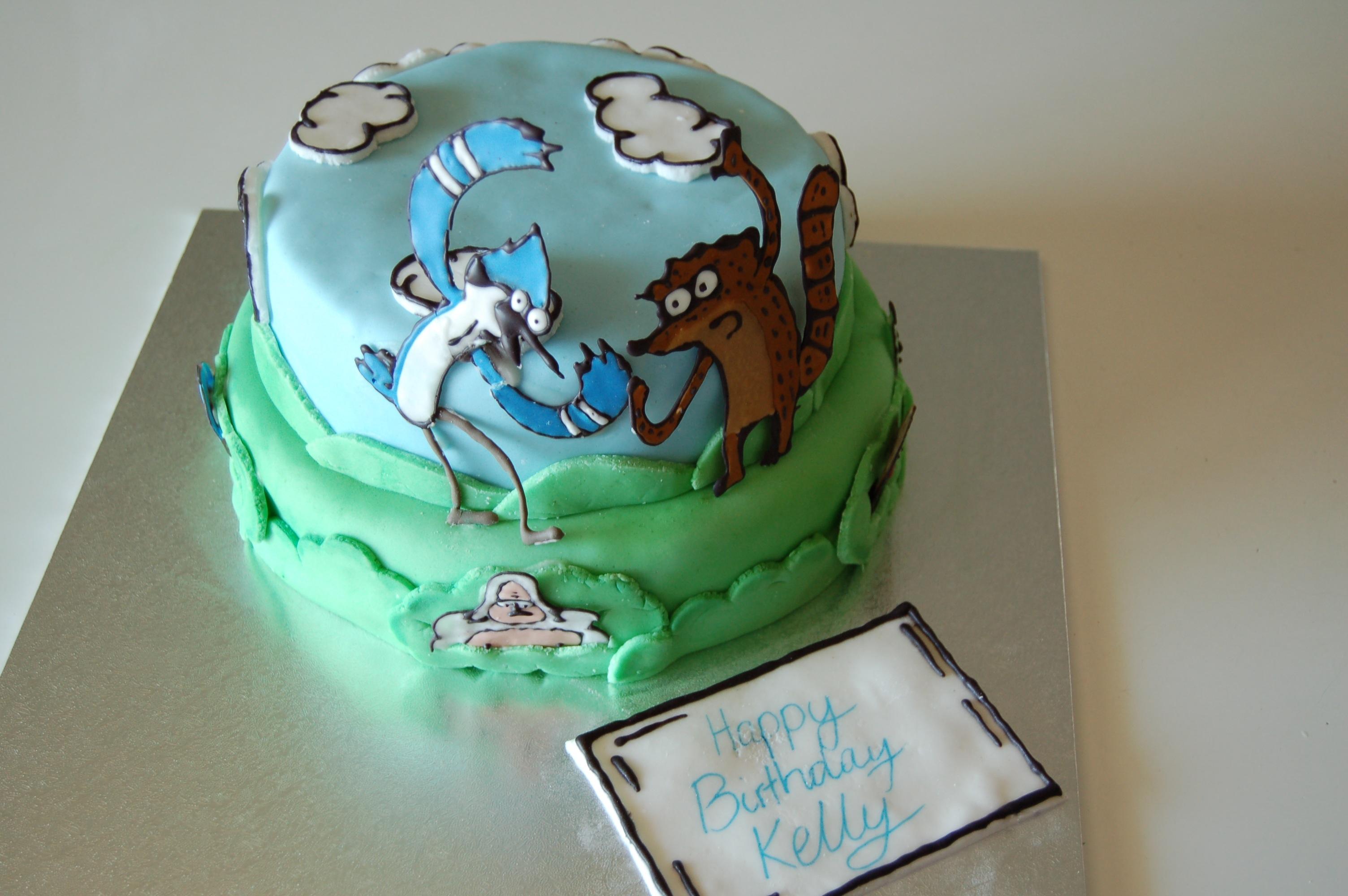 Regular Show Birthday Cake