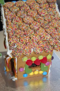 Roof detail gingerbread house