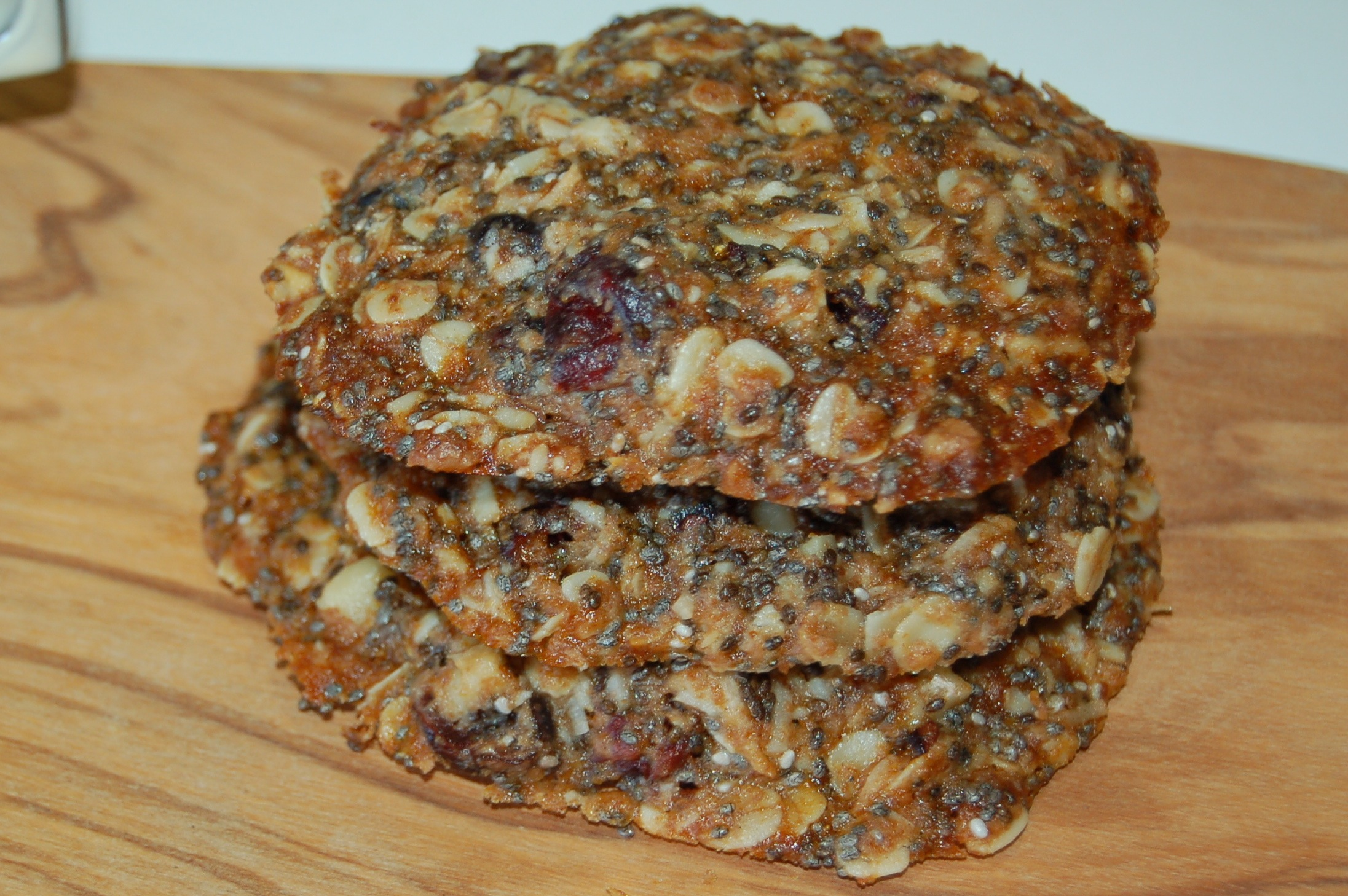 Healthy Cranberry, Chia And Coconut Cookies
