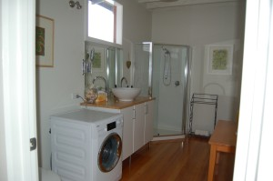 Laundry, second bathroom