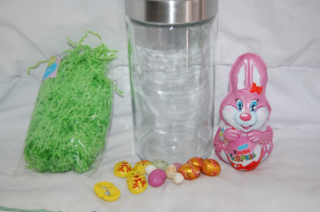 Easter bunny gift jar sweet saffron spice nose jar at christmas however the chocolate bunny i chose would not fit inside the jars i had so i needed to go hunting for a wider mouthed jar negle Choice Image