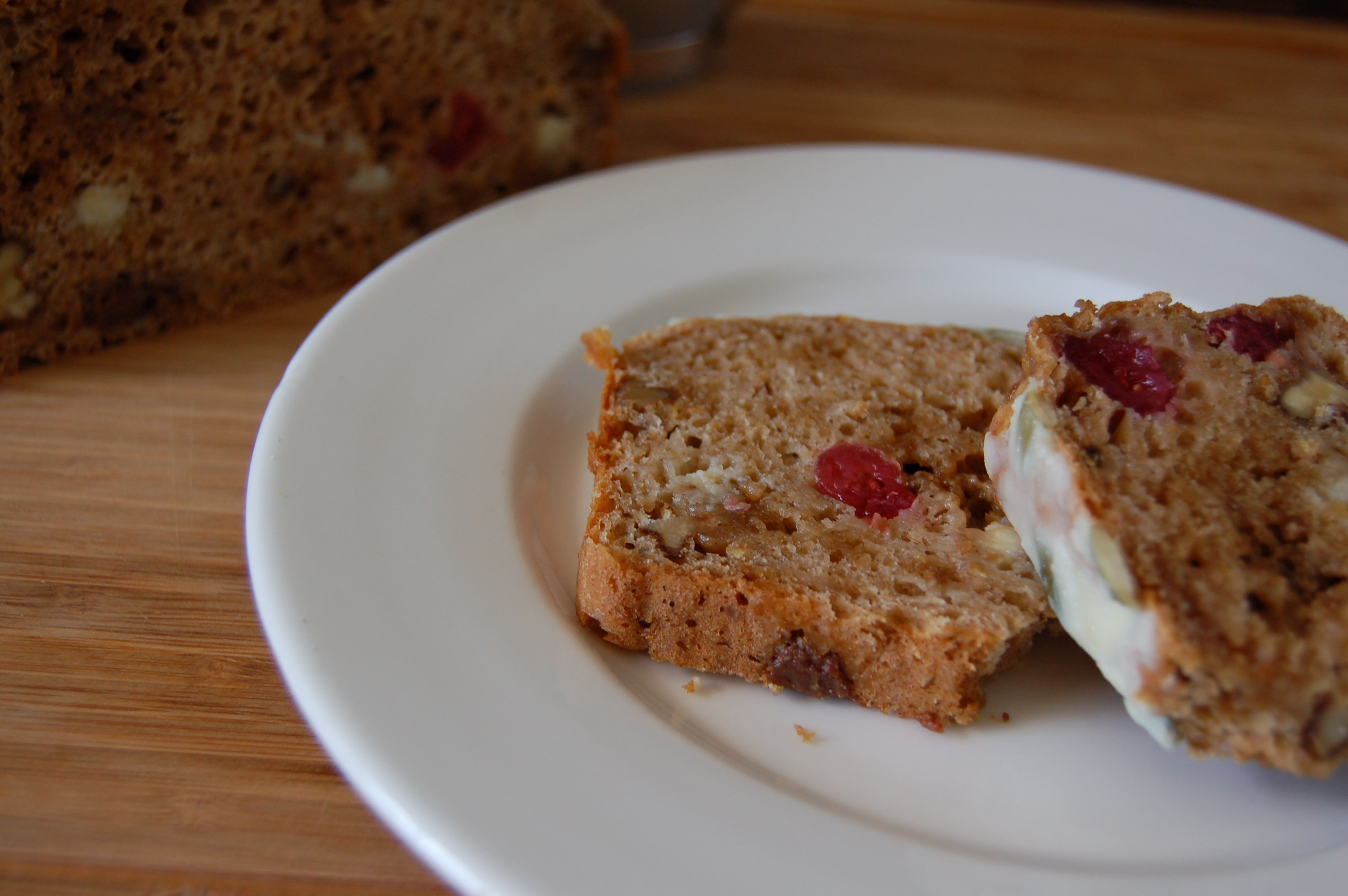 Cranberry, Apple, Cinnamon Yoghurt Bread